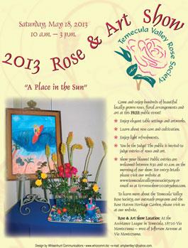 Rose & art Show flier