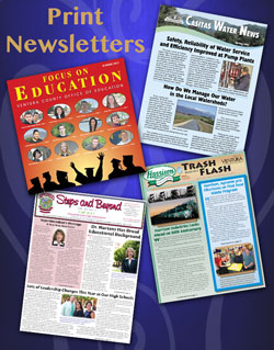 Print newsletters produced by Whisenhunt Communications