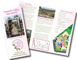 Temecula Valley Rose Society brochure
