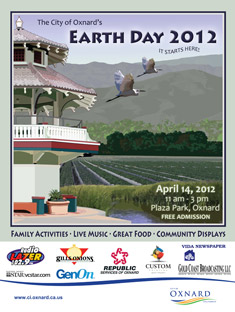 The City Of Oxnard's Earth Day Poster 2012