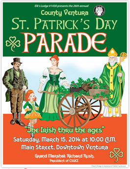 2014 St. Patrick's Day Parade poster