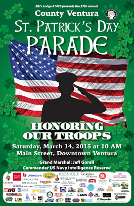 Ventura St. Patrick's Day Parade poster