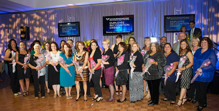 15-year awardees at CMHS Awards Banquet.