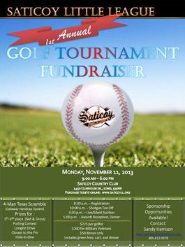 Saticoy Little League Golf Tournament flier