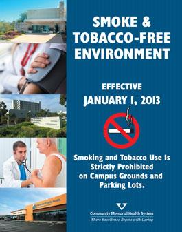 CMHS smoke free poster