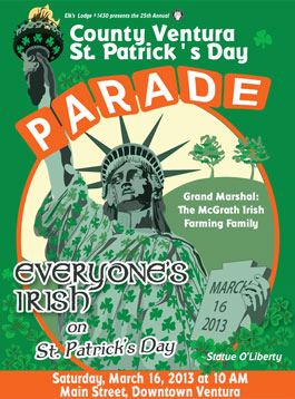 Ventura St. Patricks Day Parade poster