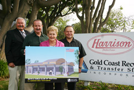 Harrisons with B& G Club president Diane Koranda