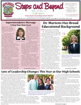 SPUHSD fall 2011 newsletter