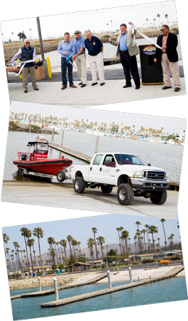 Launch Ramp ribbon cutting collage