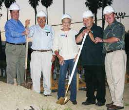harrison at the groundbreaking of the new saticoy boys and girls club clubhouse