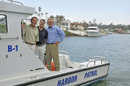 Ventura Port District Commisioners Jim Friedman, Greg Carson and Everard (Ev) Ashworth.