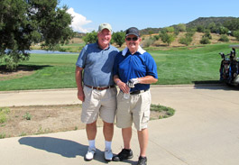 Myron Harrison and Dave Glyer at the CMH golf Tournament