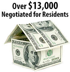 Money Negotiated for Residents