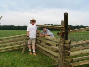 Fencebuilding along Emmitsburg Road