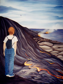 oil painting Kit Kilauea Volcano Big Island of Hawaii