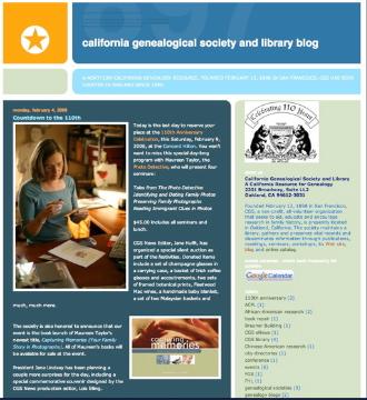 New blog screen shot