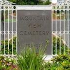 Mountain View Cemetery gate
