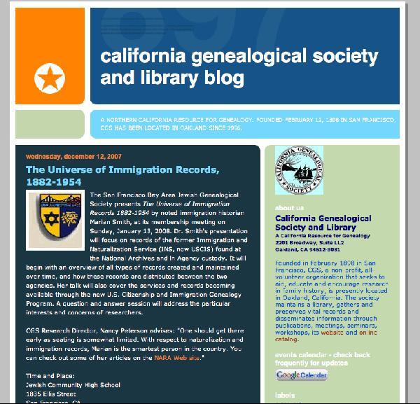 CGS Blog Screenshot