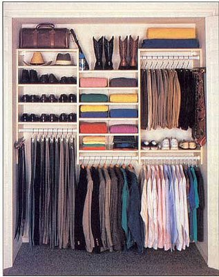 Hanging Up Your Clothes After Wearing Them Makes For An Organized Closet.