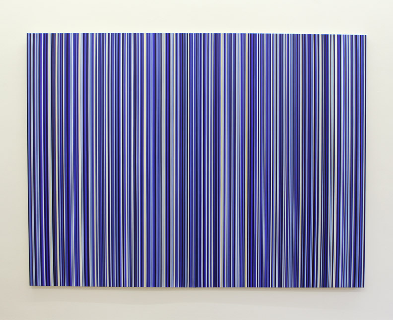 Stripes Diptych Nr. 42+43, 2012, oil on canvas, 6 ft x 8 ft