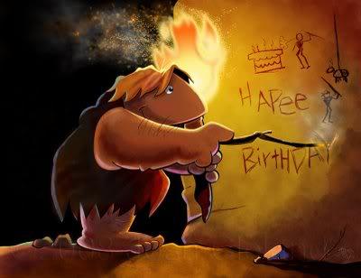 Birthday Caveman