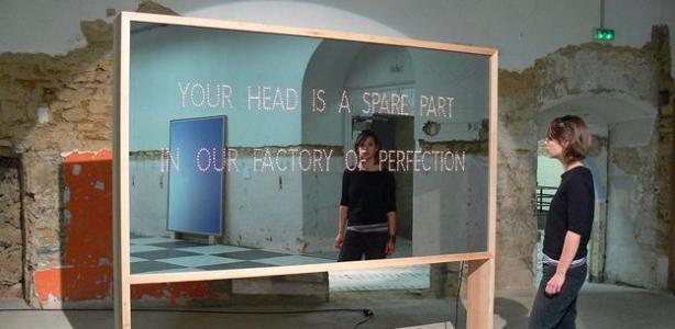 Basim Magdy_ The Future of Your Head_ 2008_ Installation view Ce Qui Vient_ Ateliers de Rennes _ Biennale d_art contemporain_ 2010.