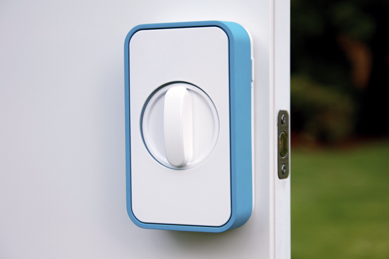 lockitron is a wireless device that slips over a dooru0027s existing deadbolt that allows homeowners and renters to lock and unlock the door with a