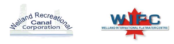 Welland Recreational Canal Corporation & Welland International Flatwater Centre Logos