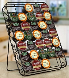 Scroll 35ct Black K-Cup Caddy