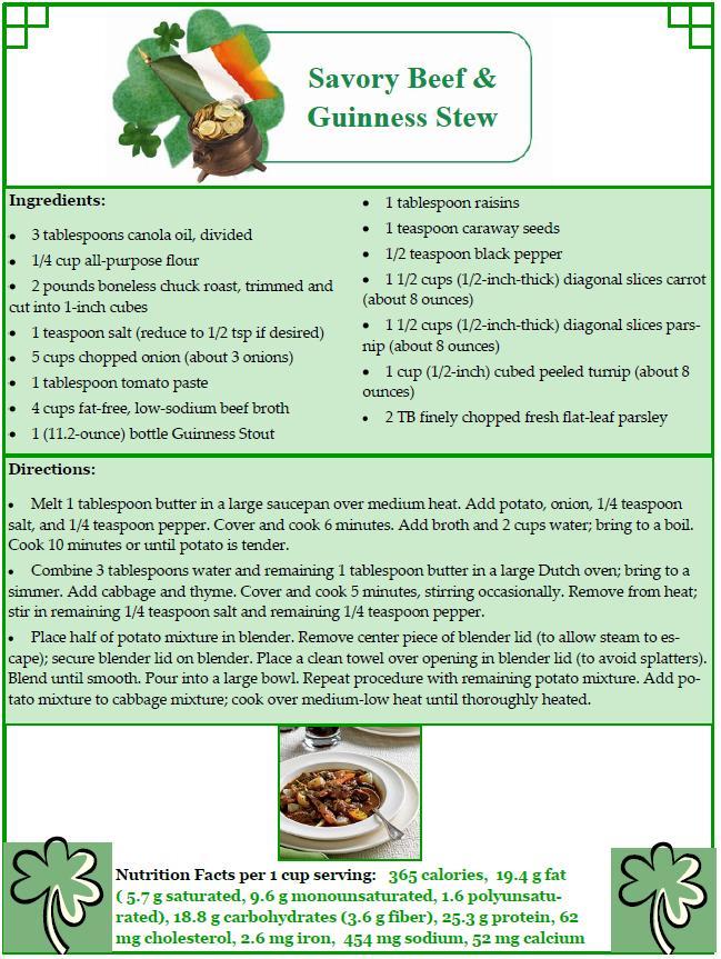 March 2012 recipe