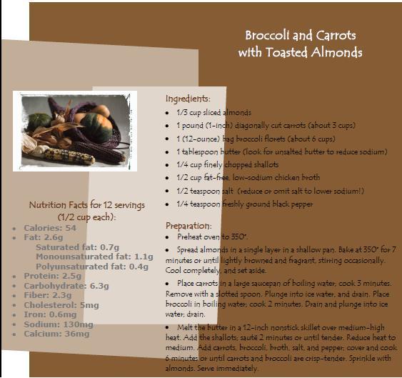 broccoli and carrot recipe