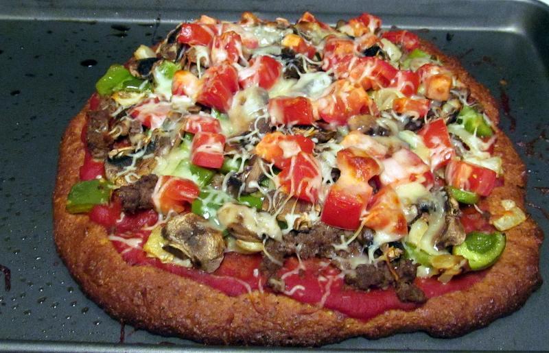 almond flax pizza crust