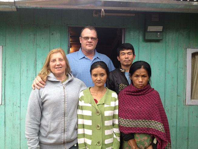 Former Bhutist family after receiveing Christ