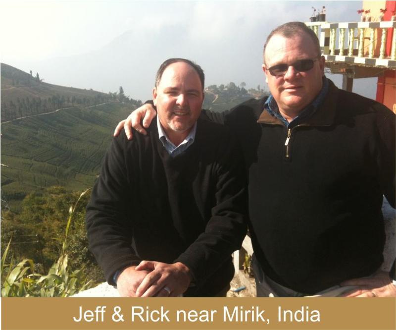 Jeff & Rick near Mirik, India