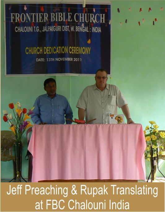Jeff Preaching & Rupak Translating at FBC Chalouni