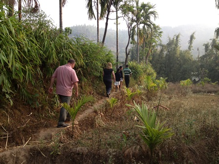 Lametar Nepal walking on trail