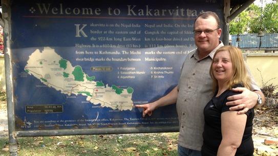 Jeff & Julie entering Nepal