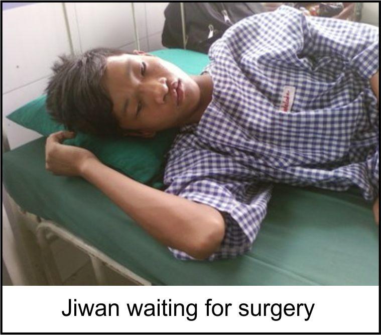 Jiwan waiting for surgery