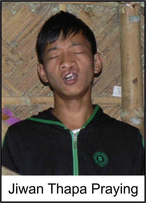 Jiwan Thapa Praying