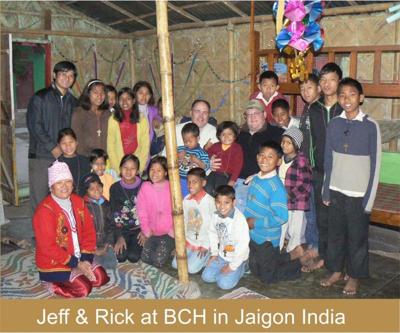 Jeff & Rick at BCH in Jaigon India