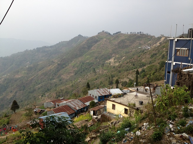 Looking from Pashupati in the mountians to the jungle in the valley