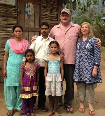 Jeff & Julie with FBC Lametar Pastor & family