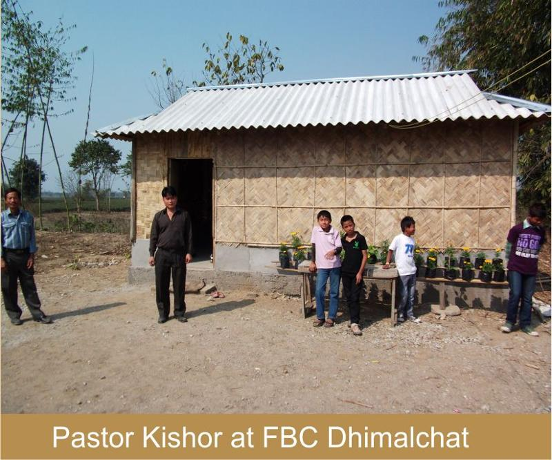 Pastor Kishor at FBC Dhimalchat
