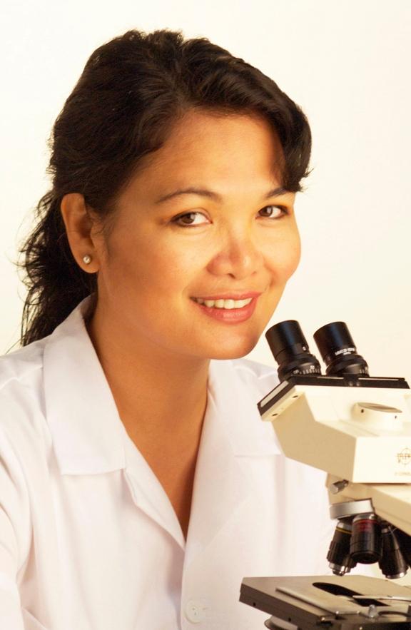 Teresa at scope
