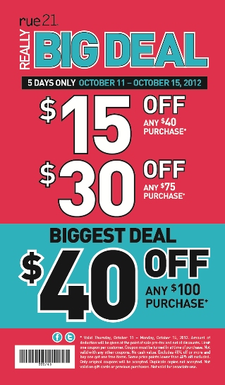Rue 21 coupons