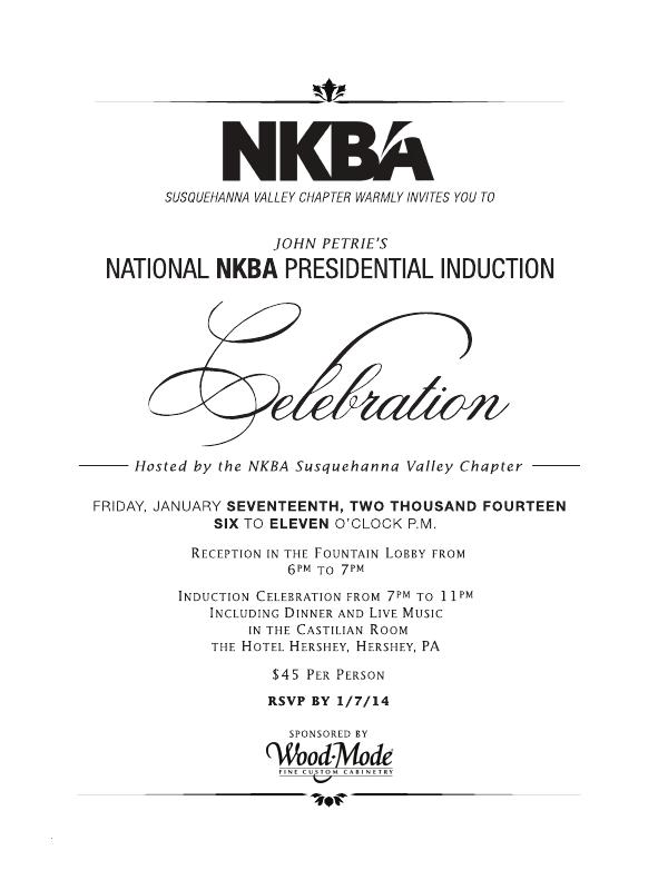46 John Petries National NKBA Presidential Induction Celebration