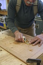 Learn to level a panel glue-up