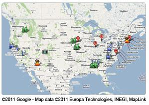 googleUS map