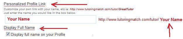 personalized URL