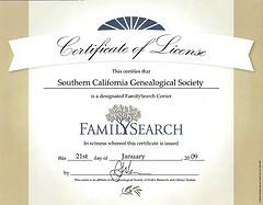 FamilySearch Designation
